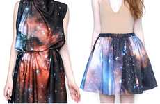 Glam Galactic Fashion - The Sagan Galaxy Skirt Creates a Stellar Silhouette That's Out of This World