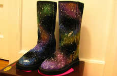 Glowing Constellation Boots - These Galaxy Boots Will Keep you Warm and Stylish All Winter Long