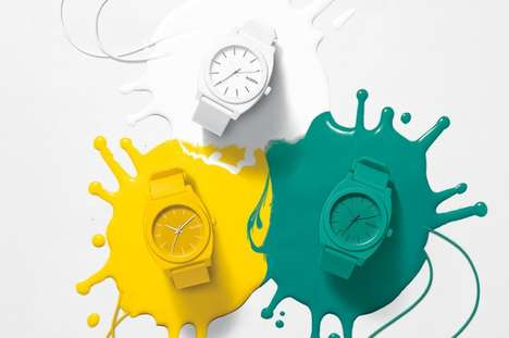 Pop Art-Inspired Watches - The Nixon Time Teller Watch Adorns Your Wrist with a Splash of Color