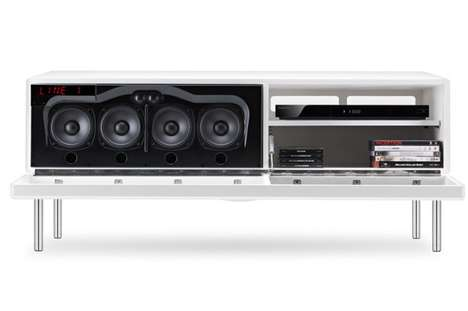 Sleek Home Multimedia Centers - The Geneva Sound System Model XXL is Made for the Modern Audiophile