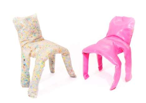 Unkempt Quirky Seats - The Frumpy Chairs by Jamie Wolfond Are Handcrafted Out of Plastic
