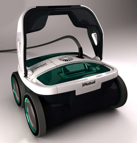 Sleek Robotic Pool Cleaner