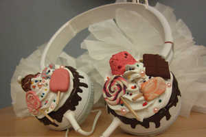 These Candyland Sweetie Cupcake Headphones Feature Your Favorite Treats