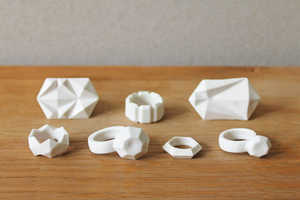 Moko Sellars Carves Faux-Diamond Rings from Bone China