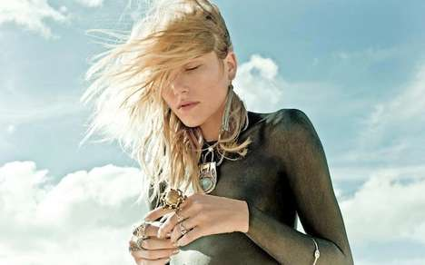35 Dramatic Dree Hemingway Editorials - From Cosmically Sandy Catalogs to Summer Love Shoots
