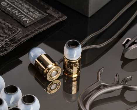gold titanium bullet headphones