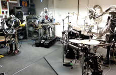 Robot-Run Cover Bands - Compressorhead is a Robot Band That Rocks Out to Motorhead