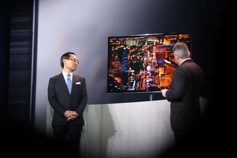 Printed Flat-Panel TVs - Panasonic Debuts the World's First 4K Printed OLED TV at CES 2013 Today