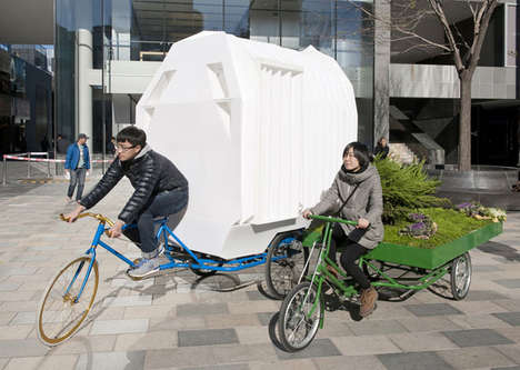 Remarkable Rickshaw Residences - The Tricycle House is a Minimal and Mobile Unit for Living