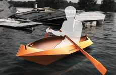 Accessible Origami Lifeboats - The FoldingBoat Concept Safely Equips Home Owners in Flood Zones