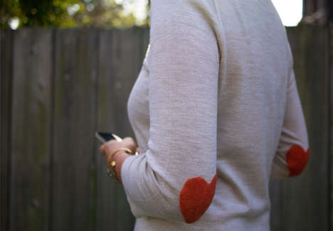 Honestly WTF DIY Heart Elbow Patch
