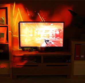 Holistic Gamer-Friendly Spaces - New Illumiroom Microsoft Technology Expands the Borders of TV