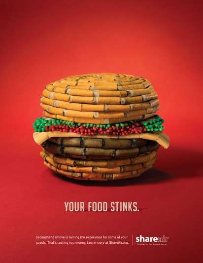 Cigarette-Made Food Ads
