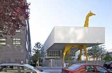 Exotic Animal Nurseries - The Giraffe Childcare Center by Hondelatte Laporte Architects is Wild