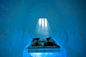 The 'Beam Me Up' Ice Hotel Room is Inspired by Sci-Fi Spaceships