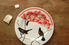 Avian-Collaged Plate Art