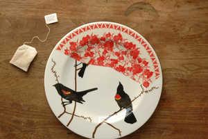 Jason Miller Fills Plates with Bird Motifs