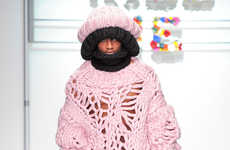 Exaggerated Cotton Candy Knitwear