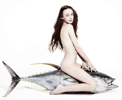 Sea Creature-Loving Celebs - The Fishlove Campaign Gets Naked to Stop Overfishing