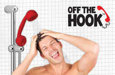 Telephone Bath Fixtures - Turn Your Shower into a Phone Booth with the Off The Hook Shower Head