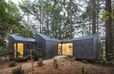 Contemporary Shingle-Clad Cabins - This Eco-Resort is Disguised in Roofing to Sink into its Setting