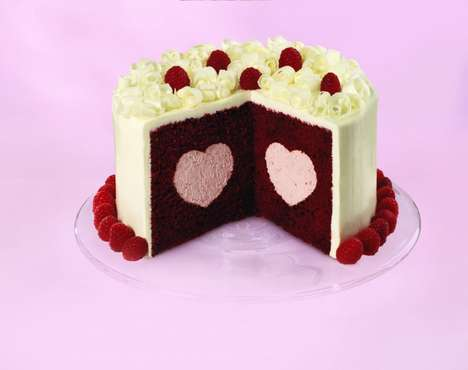 Heart Filled Cake