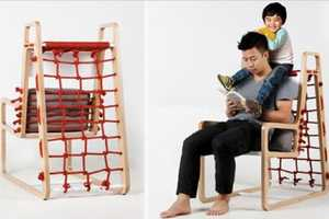 The Abooba Chair Lets Parents Sit Comfortably While Playing with Their Kids