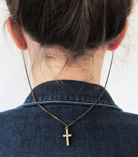 Connected Cross Earrings