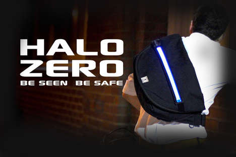 Luminous Safety Sacks - The LED Bag Ensures You Are Seen by Things That Bump in the Night