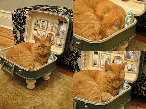 DIY Cat Suitcase Bed