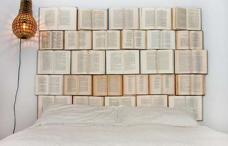 Novel-Covered Bedroom Decor - Create a Reader's Dream Room with the DIY Book Headboard