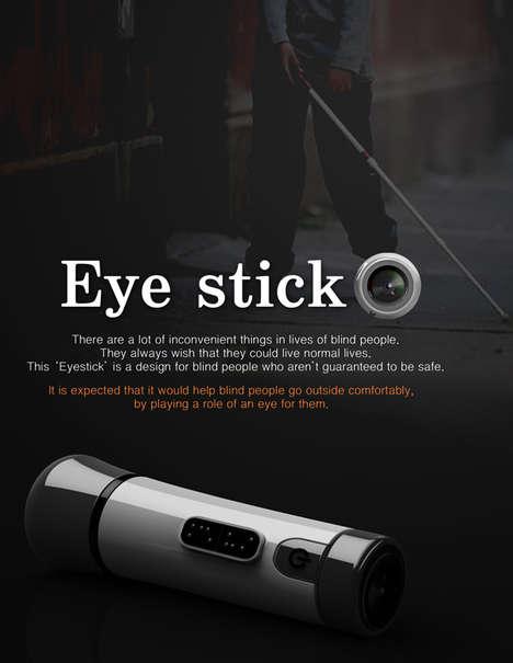 Hi-Tech White Canes - The Eye Stick by Kim Tae-Jin Uses Ultrasonic Sensors