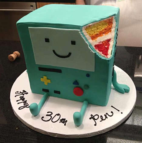 adventure time bmo cake 