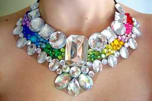 Rhinestone Statement Necklaces are Chearful and Colorful