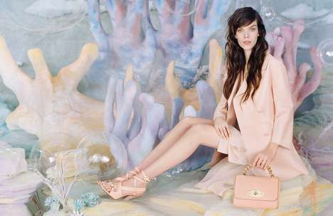 Mermaid Marketing Campaigns - The Mulberry Spring/Summer 2013 Advertisements are Aquatic