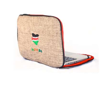Burlap Laptop Cases
