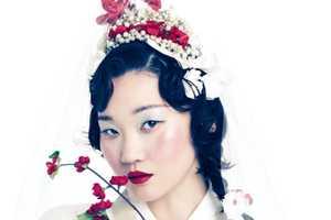 The Vogue Korea Hong Jang Hyun Photoshoot is Floral