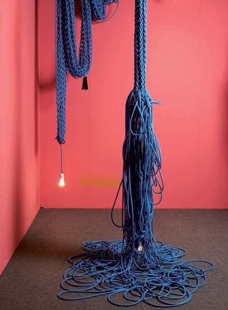 Knitting with Electrical Cords