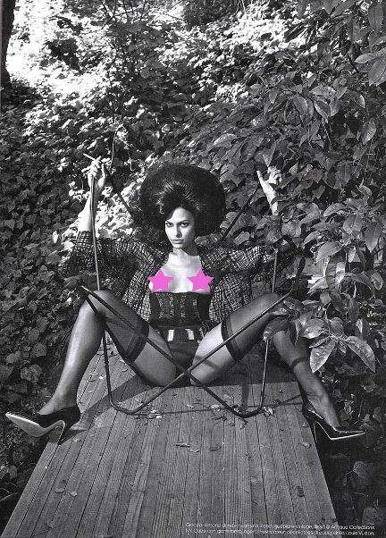 Retro to Justify Naughty? - Eva Mendes for Vogue Italia