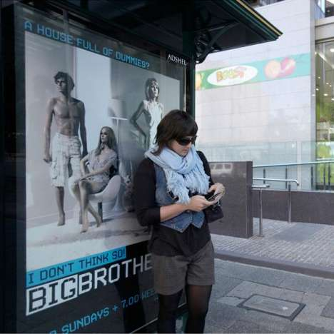 Anonymous Texts at Bus Stops - Big Brother's Creepy Bluetooth Campaign