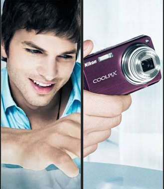 Celebrity Wedding Photographers - Ashton Kutcher Nikon Ads