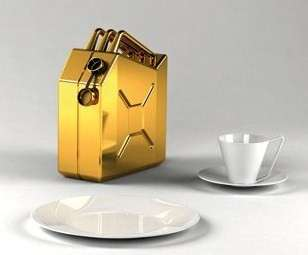 Crude Oil Awareness Pots - Oil Can Tea Set