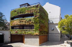 Dense Plant-Covered Homes