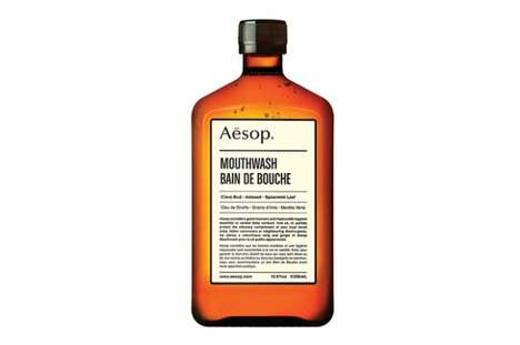 Medicine Bottle Mouthwashes - The Aesop Mouthwash Launches and Will Improve Your Hygiene
