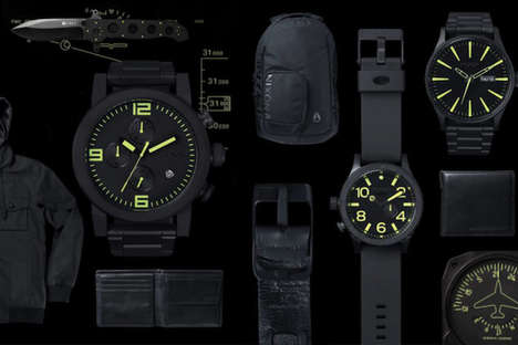 Stealth Neon Watches - The Nixon S/S 2013 'Black & Lum' Collection Is Special-Ops-Inspired