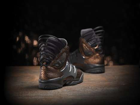 Haute Metallic Footwear - The Teyana Taylor Adidas Originals Combine Urban Flavor with Haute Style