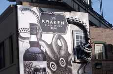 Legendary Sea Monster Billboards - The Kraken Black Spiced Rum References The Popular Legend