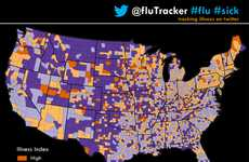 Social Media Sickness Trackers - This Infographic Uses Twitter for Tracking the Flu
