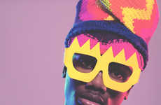 Pop Art Knitwear Catalogs - The Rebel Yuths Lookbook Features Eccentric Eyewear Accents
