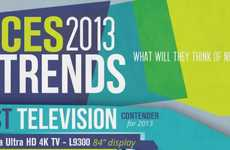 Exceptional Electronics Infographics - This Infographic Details Some CES 2013 Products